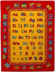 Kids Area Rug (ABC Fun Rug)Alphabet and Letters Learning Rug Paradise (3ft3in.4ft10in.)