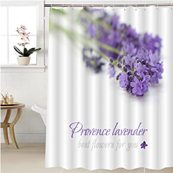 Amazon.com: Gzhihine Shower curtain provence lavender flower on ...