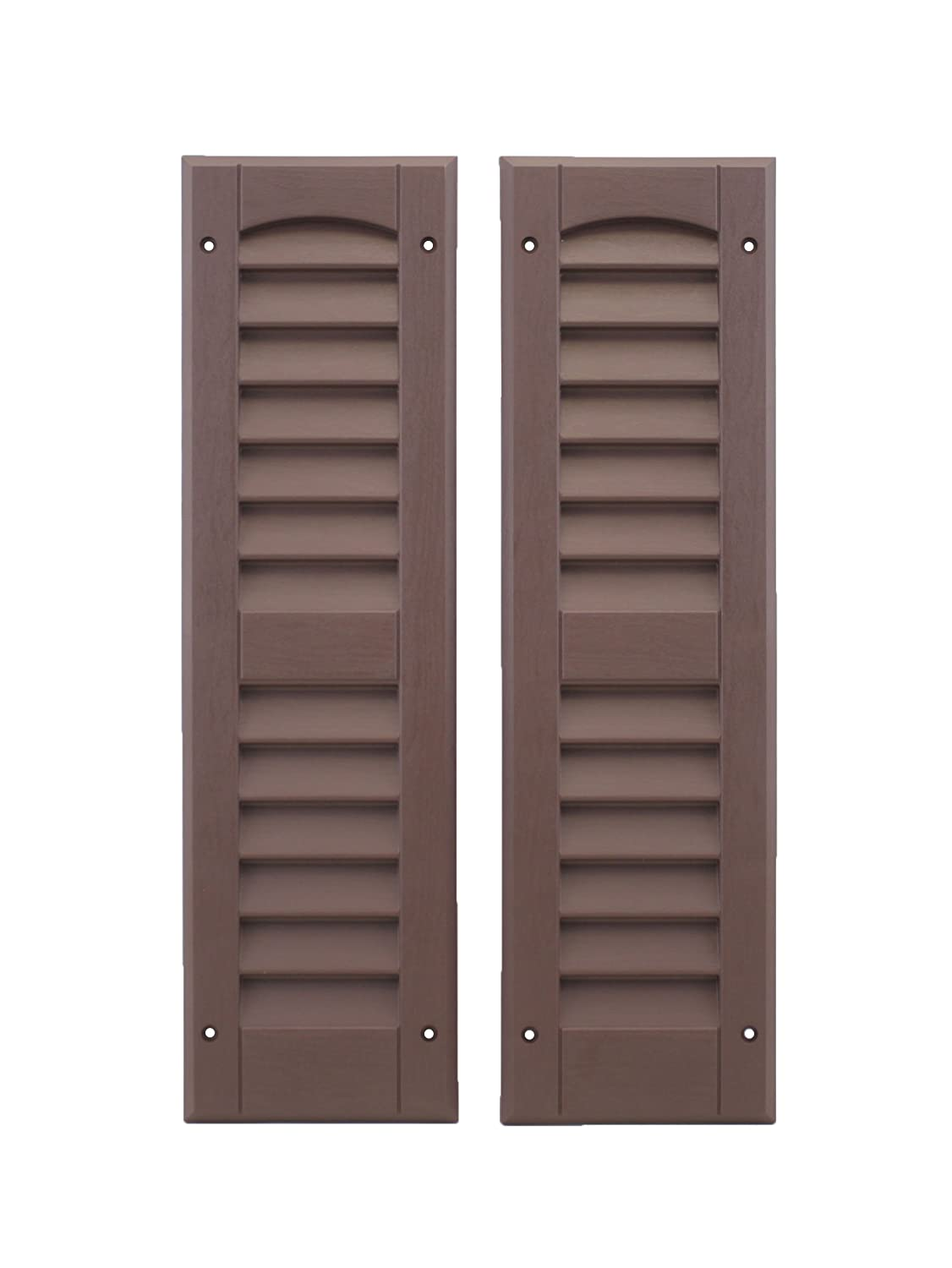 Louvered Shed Shutter or Playhouse Shutter, Brown 6