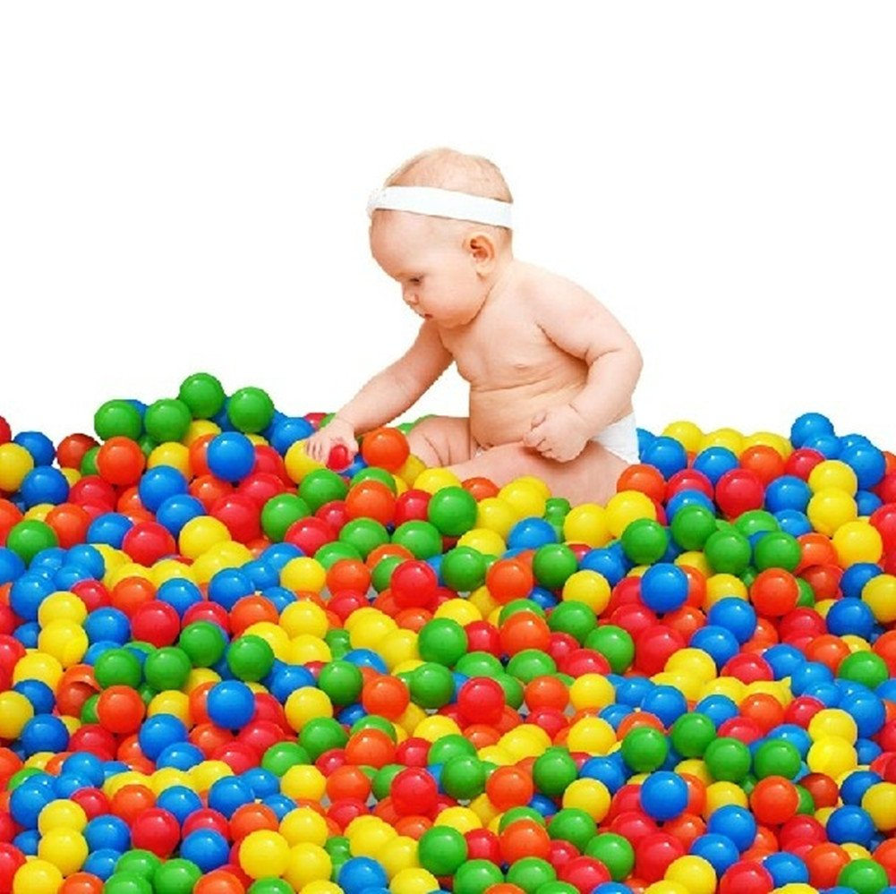 100pcs Play Balls Soft Plastic Non-Toxic Phthalate-Free Crush-Proof Pit Balls Baby Kids Toy Swim Pit Toys EasonJ