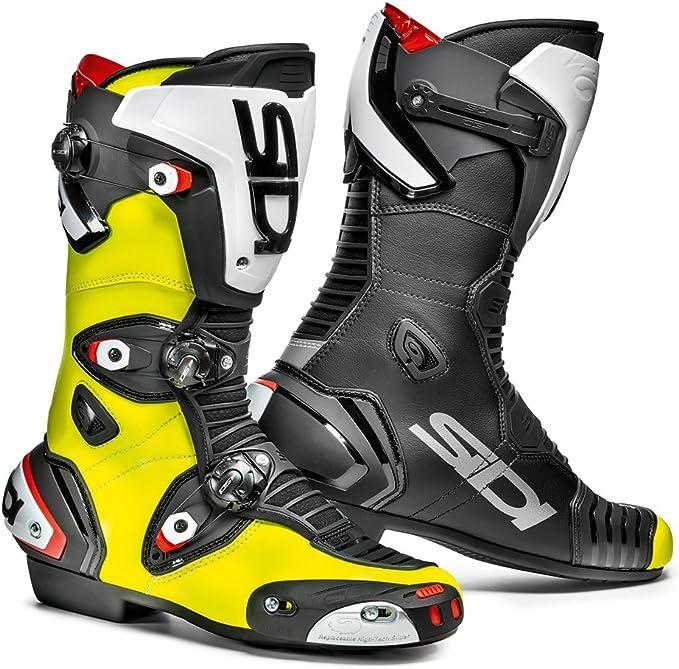 Sidi Mag 1 Motorradstiefel Gelb Fluo Schwarz Größe 43