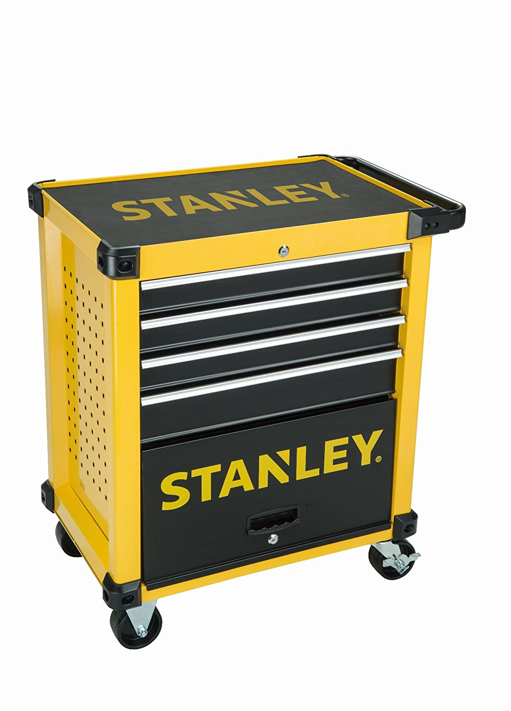 Carro de taller Stanley equipado con cuatro cajones y nueve módulos FMHT0-80442: Amazon.es: Bricolaje y herramientas