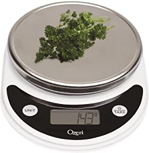 Ozeri Pronto Digital Multifunction Kitchen and Food Scale, White
