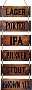 Hanging Wall Bar Décor – Bar Accessories for Home Pub, Beer Signs, Rustic Pub Sign, Man Cave Living Room Art, Bedroom, Bathroom, Kitchen, Patio, and Shed Decorations for House, Outdoor Vintage Plaques