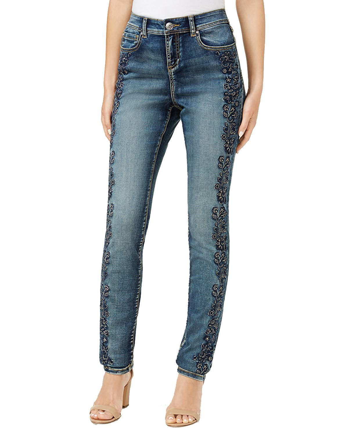 INC International Concepts Embroidered Skinny Jeans