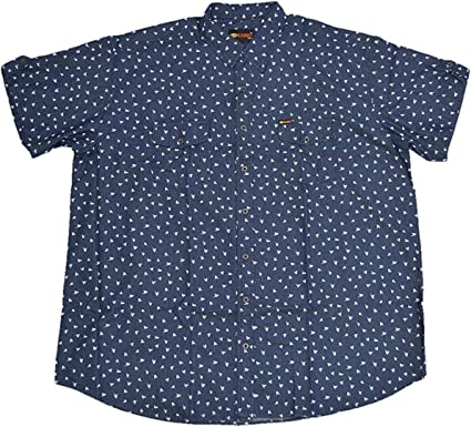 KAMRO - Camisa de manga corta para hombre, color azul, con ...