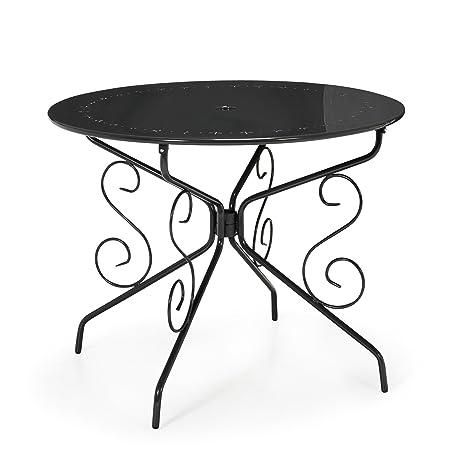 Alinéa Romance Table de Jardin Ronde en métal Gris x72.0 ...