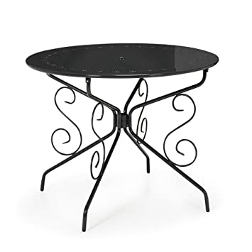 Romance Table de jardin ronde en métal Gris - Alinea x72.0.: Amazon ...