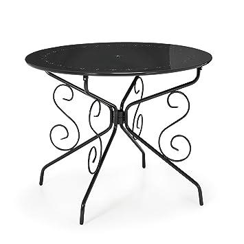 Romance Table de jardin ronde en métal Gris - Alinea x72.0 ...