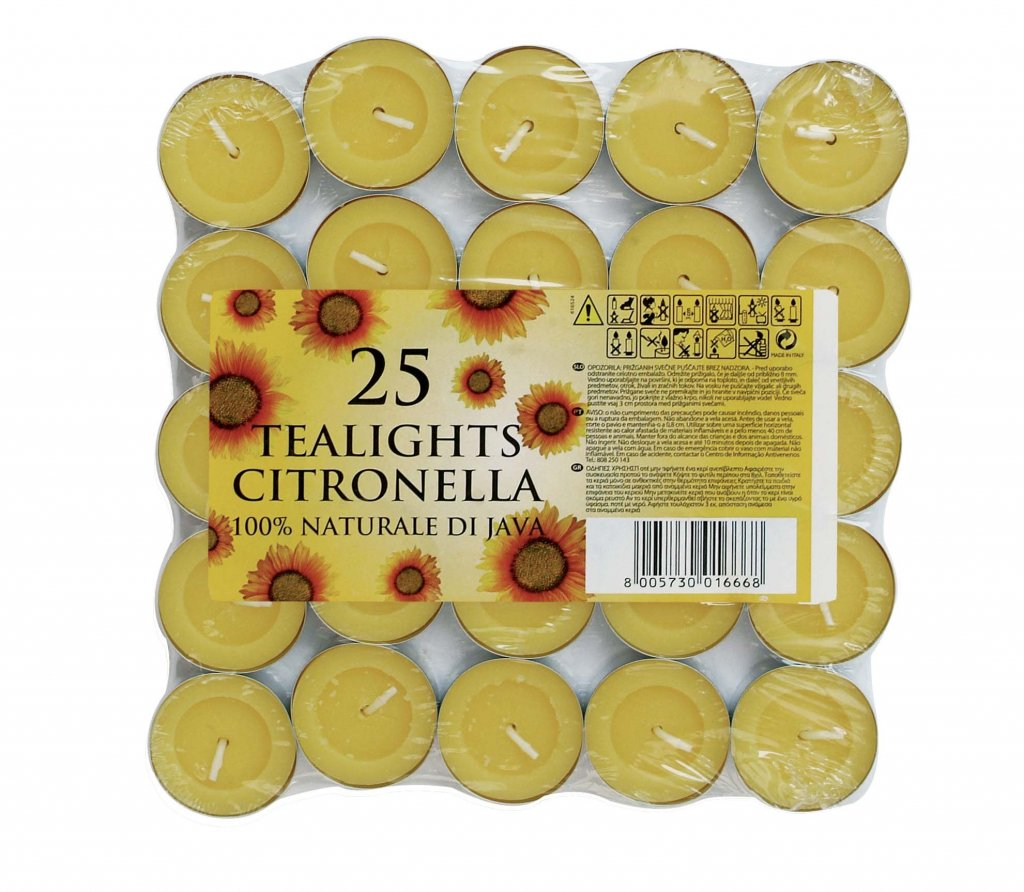 Prices Citronella Tealight Candles Mosquito Fly Insect Repeller by Price's Candles Prices Candles