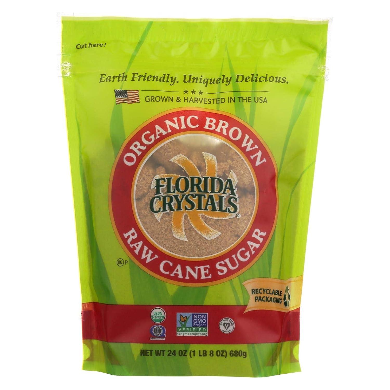 Florida Crystals Organic Brown Sugar, 24 Ounce (Pack of 6)