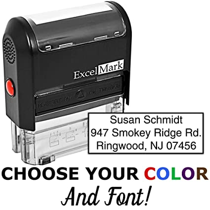 f185253ce Amazon.com   Custom Self Inking Rubber Stamp - 3 Lines (42A1539)   Business  Stamps   Office Products