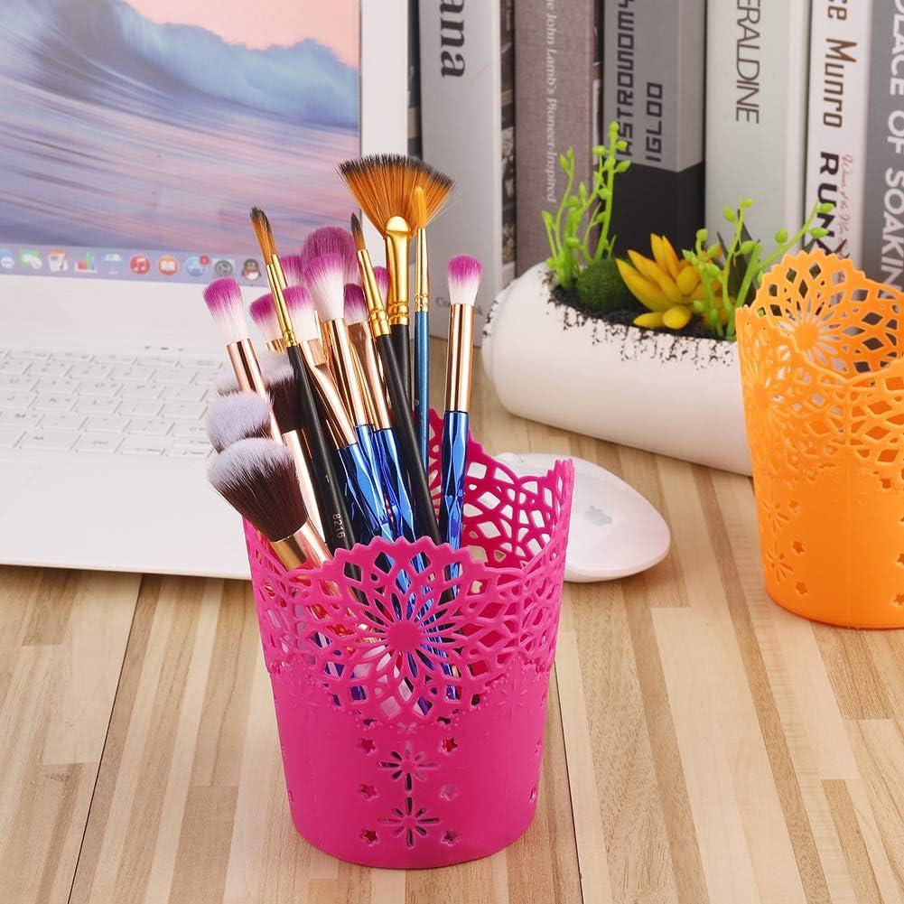 Xinstroe 7 Pcs Hollow Flower Pencil Pots Pen Pot for Desk Office Storgae Organizer Makeup Brush Holder Stationary Pot Pen Pencil Holder