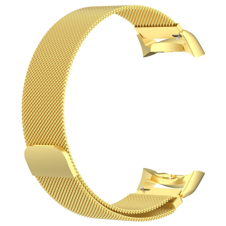 For Gear s2 Milaneseバンド[最新カラー] ruentech 20 mm幅メタルブレスレット交換用ストラップfor Samsung Galaxy Gear s2 sm-r720 / sm-r730 Smart Watch ゴールド ゴールド B0762L71CD