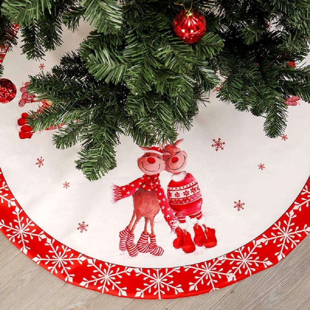 Falda de árbol de Navidad - Alfombra de adorno de árbol de Navidad ...