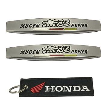 1pcs Honda etiqueta Llavero y 2pcs Mugen Power emblema ...