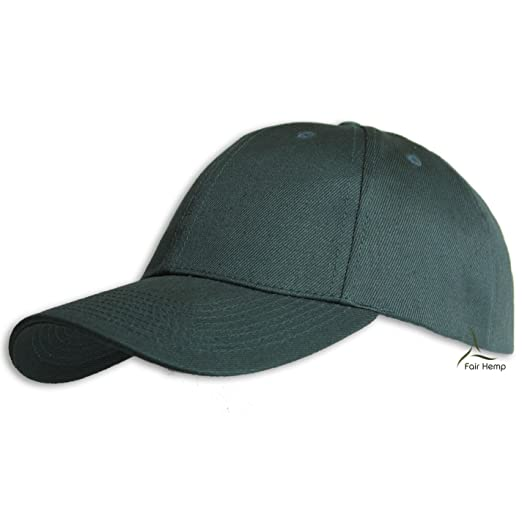 Fair Hemp Hemp and Organic Cotton Structured Baseball Cap (Forest Green) a5623fcf752