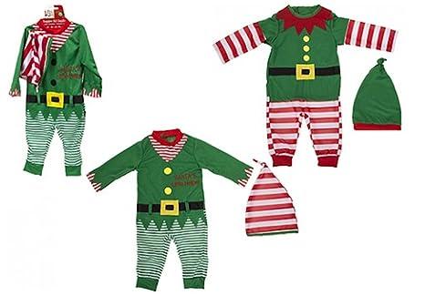 Bambino   Baby Elf Outfit di Natale. Rompicapo e Cappello. 2 disegni ... d47ac696885b