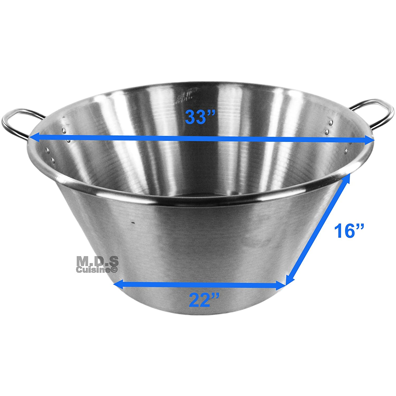 Amazon.com : Cazo para Carnitas XXXL 33 Stainless Steel 2 ...