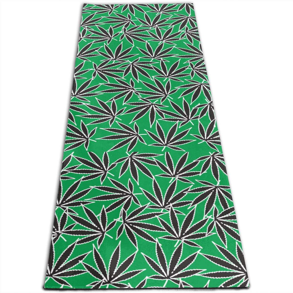 Amazon.com: Marijuana Cannabis Leaf Weed Pattern Printed ...