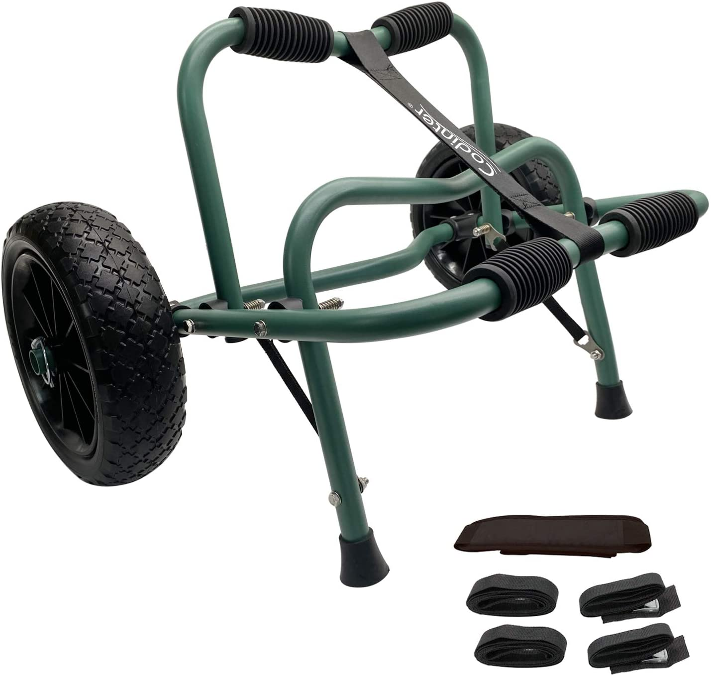 Codinter Kayak Cart, Canoe Dolly Trolley for Carrying Kayaks Boats Paddleboard Transport – Green