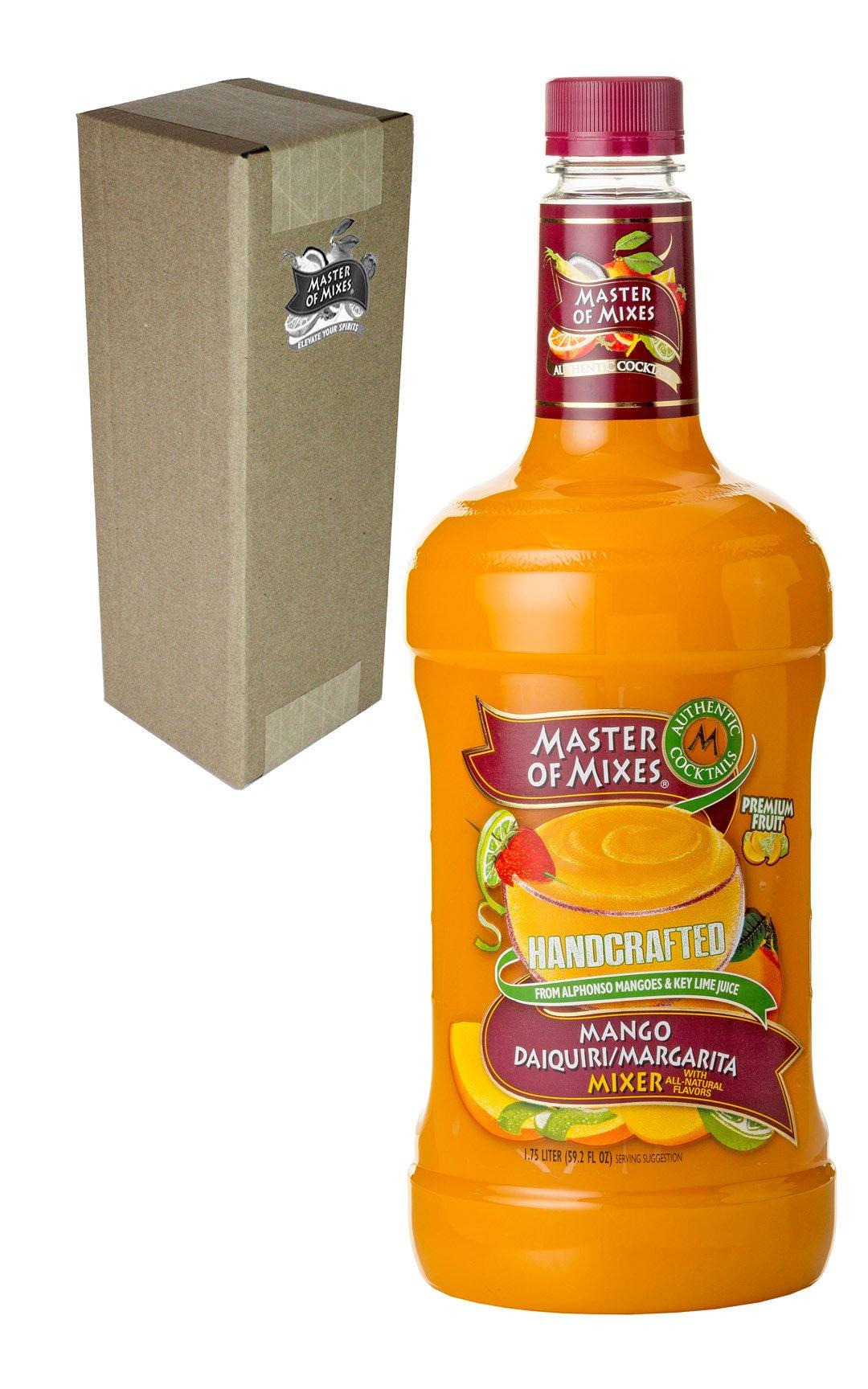 Master of Mixes Mango Daiquiri/Margarita Drink Mix, Ready to Use, 1.75 Liter Bottle (59.2 Fl Oz), Individually Boxed by Master of Mixes