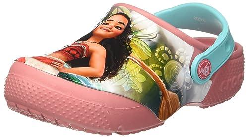 Crocs Fun Lab Disney Vaiana Clog, Niñas Zueco, Rosa (Blossom ...