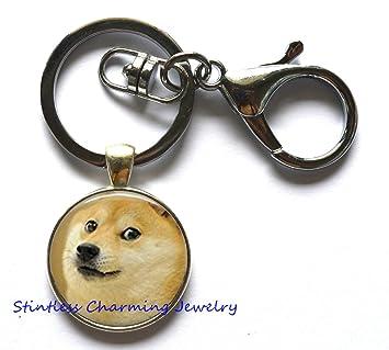 Perro llavero, plata perro llavero, animales regalo y # xFF0 ...