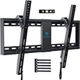 TV Wall Mount Bracket Tilt Low Profile for Most 32-70 inch LED, LCD, OLED, Plasma Flat Screen TVs with VESA up to 132lbs (60k