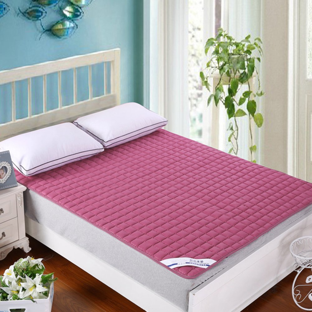 D 180x200cm(71x79inch) Bedroom Mattress Tatami mat Bed pad Grinding Fabric fold-Able Anti-Skidding 2.2cm Thick [Individual] [Double] for livingroom Student Dormitory Tents-A 100x200cm(39x79inch)