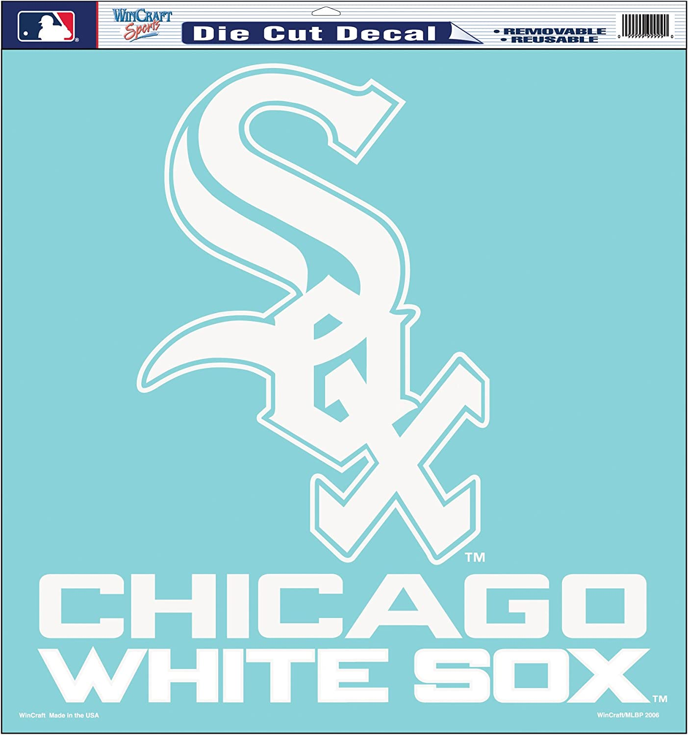 MLB Chicago White Sox 4-by-8 Die Cut Decal