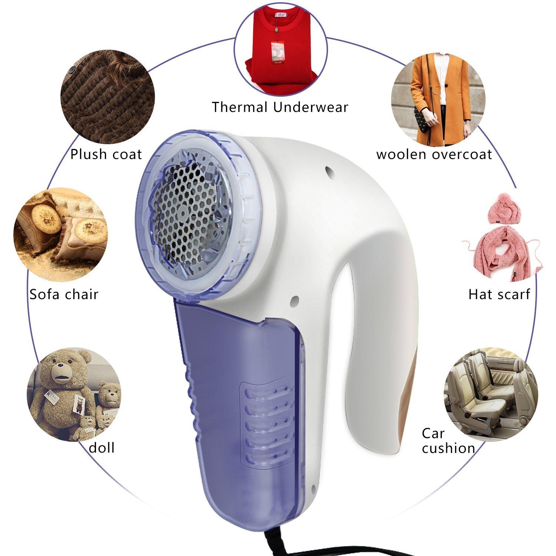 Fozela Elektrischer Fusselentferner Kleidung Lint Remover f/ür Verschiedene Stoffe Fusselrasierer