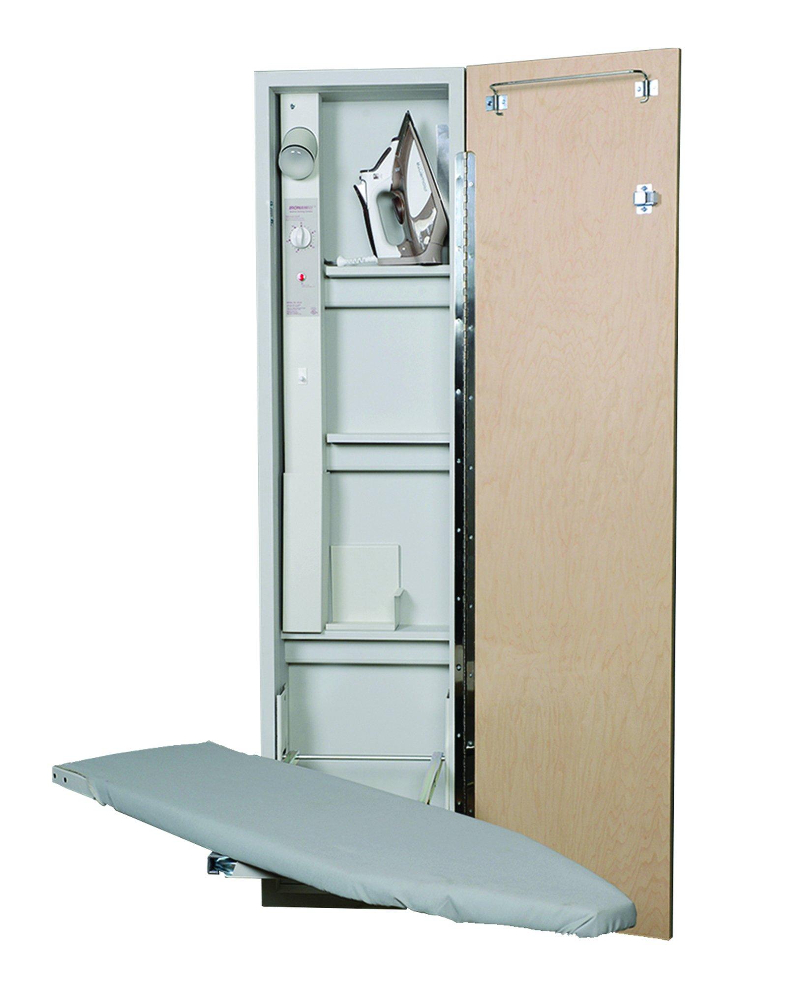 Iron A Way AE-46 Premium Electric Swivel Ironing Center, Raised Oak Panel Door