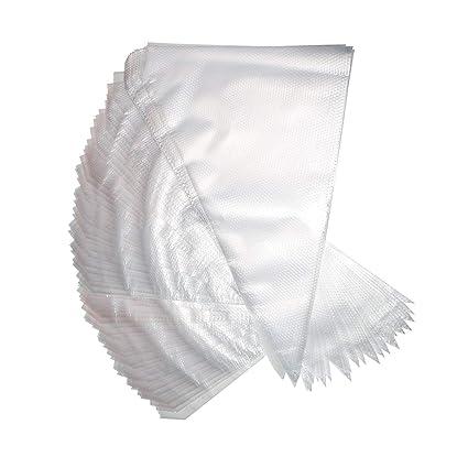Bolsas de tuberías - Desechable Bolsas de tuberías 100 piezas por Kurtzy - Grande Espesado Formación de hielo Bolsas de pastelería para Postre ...