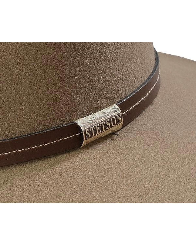19d8e645e1603 Stetson Men s 4X Tan Mine Buffalo Felt Cowboy Hat - Sbslvm-5036 Stone at Amazon  Men s Clothing store