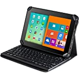"""Navitech Black Micro USB Keyboard Case / Cover For 10.6"""" Fusion5 108 Octa Core Android Tablet PC"""