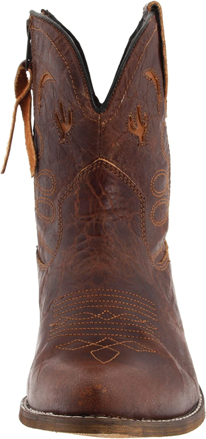 Dingo Women's Adobe Rose Leather Boots B009ZDHTKC 6.5 W US|Light Brown Distresssed
