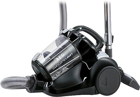 AEG ACC5110 Aspirador sin bolsa CyclonClean con cepillo DustPro de doble posición, suelos duros y alfombras, 800 W, 1.8 litros, 77 Decibelios, Negro ébano: Amazon.es: Hogar
