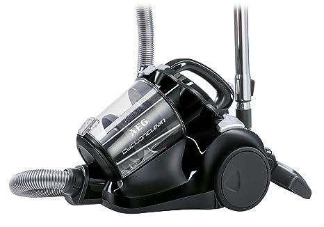 AEG ACC5110 Aspirador sin bolsa CyclonClean con cepillo DustPro de doble posición, suelos duros y alfombras, 800 W, 1.8 litros, 77 Decibelios, Negro ...