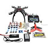 QWinOut QQ Super Multi-Rotor Flight Control DIY 310mm Fiberglass RC Racing Drone Unassembly ARF Combo Set with Flysky FS-i6 6CH 2.4G AFHDS 2A LCD Remote Controller