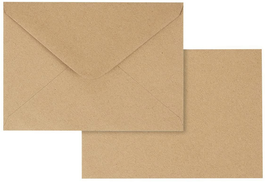 Juvale 100 Pack Brown Kraft Grocery Bag Paper A4 Envelopes for 4 x 6 Greeting Cards and Invitation Announcements Value Pack Envelopes 4.2 x 6.2 Inches 100 Count