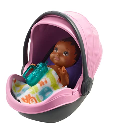 Barbie Skipper - Cochecito con muñeco de bebé y accesorios (Mattel FXG95)