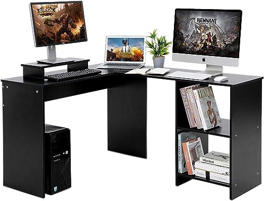 Llivekit Escritorio de esquina L forma, Escritorio para ordenador ...