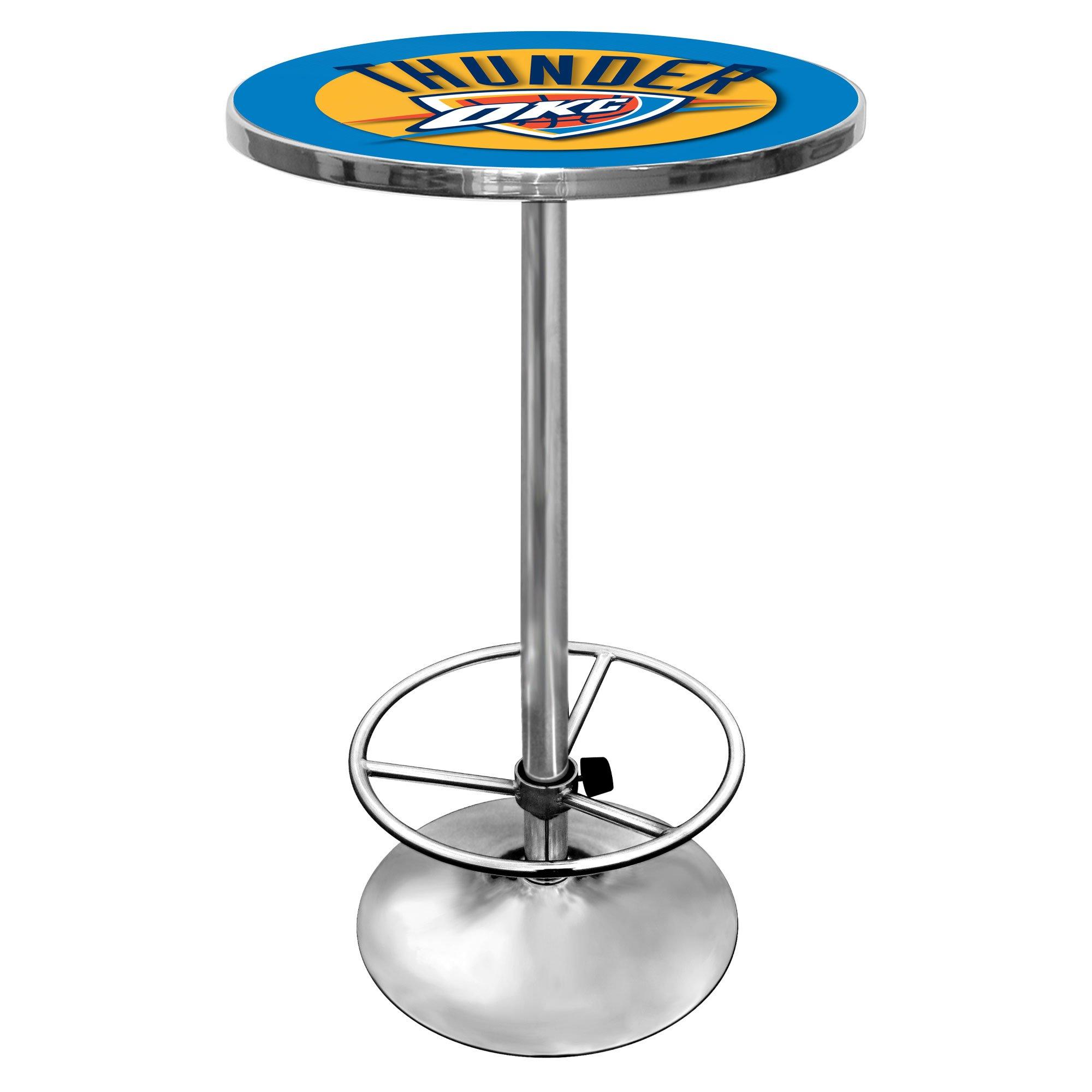 NBA Oklahoma City Thunder Chrome Pub Table