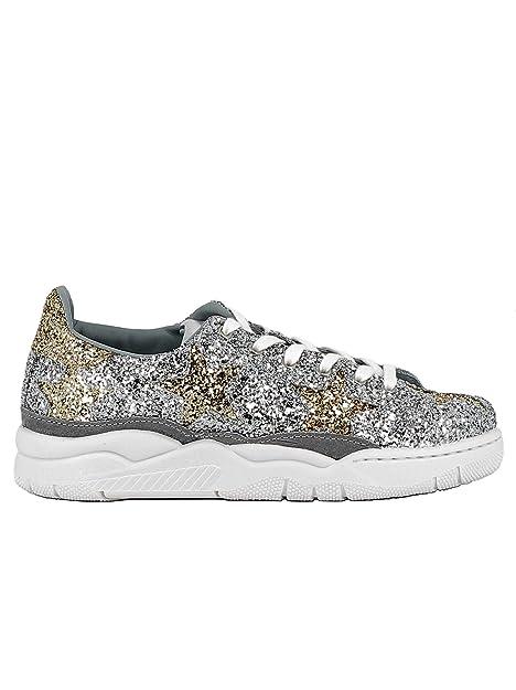 Chiara Ferragni - Zapatillas para Mujer Plateado Plateado EU Plateado Size: 39 EU: Amazon.es: Zapatos y complementos