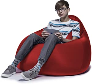 Jaxx Nimbus Spandex Bean Bag Chair Furniture for Dorms, Teen Rooms, and More, Medium, Cardinal