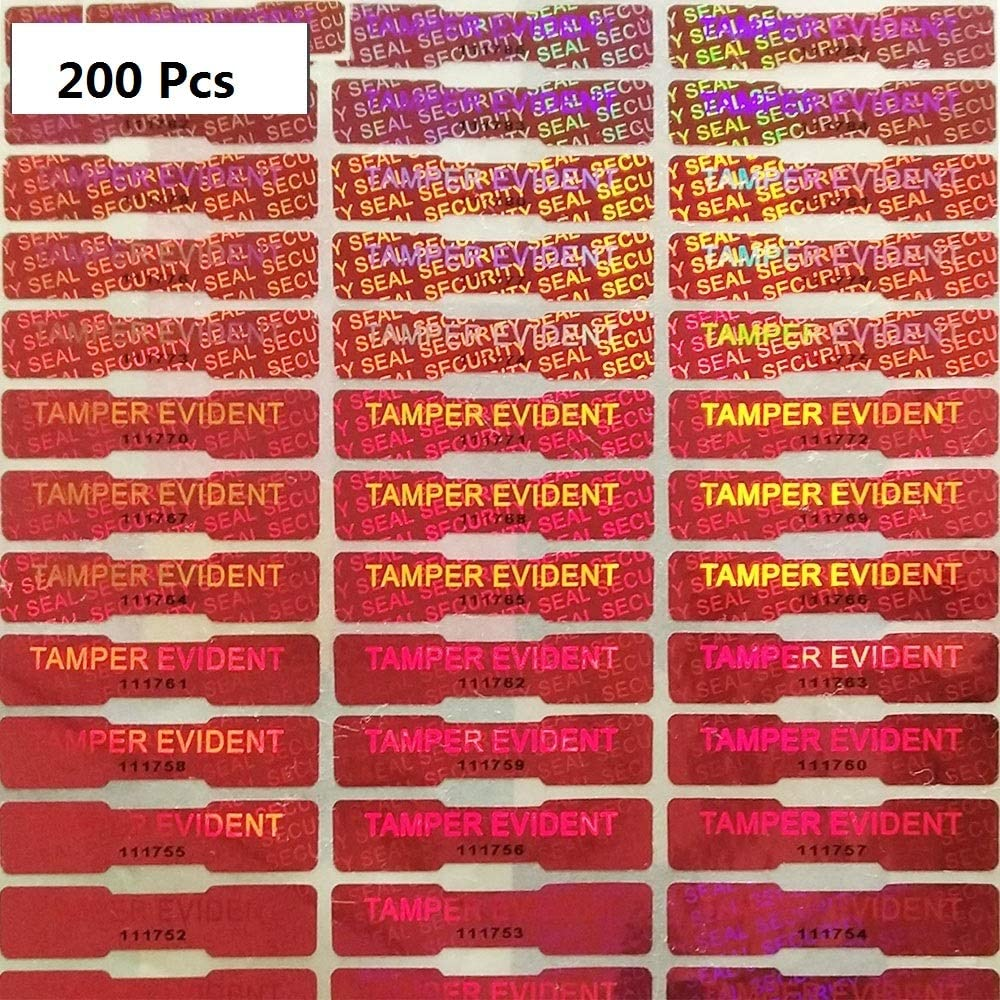BestBuddy Tamper Evident Sticker Warranty Void Tape Security Seal, Red, 200 Pcs