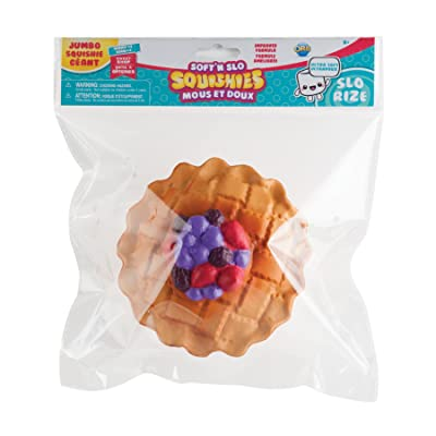 """Orb The Factory Jumbo Berry Pie Soft'n Slo Squishies, Red/Blue/Brown, 10.83"""" x 9.25'' x 3.50"""": Toys & Games"""
