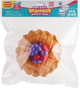 ORB The Factory Jumbo Berry Pie Soft'n Slo Squishies, Red/Blue/Brown, 10.83
