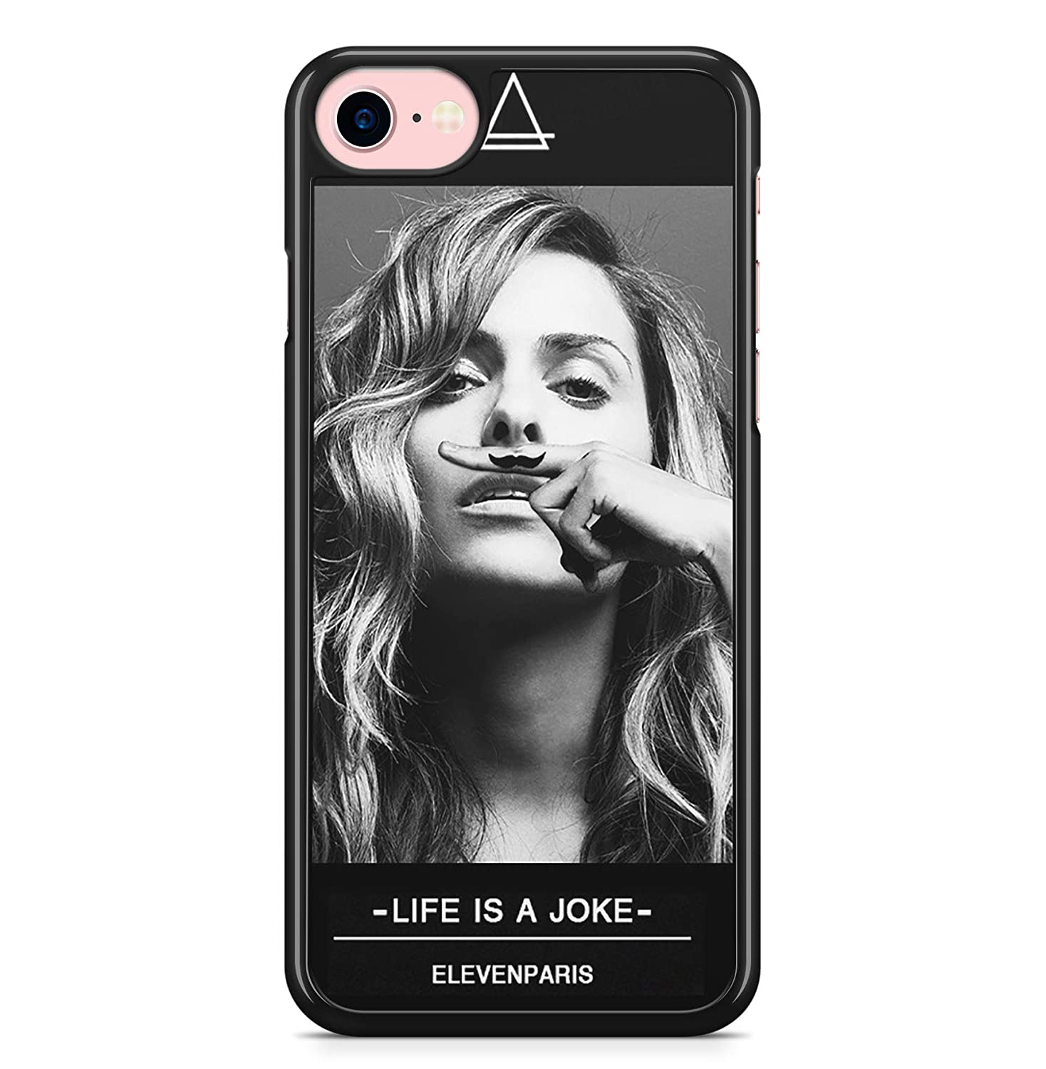 Coque iPhone 4 4S 5 5S SE 5C 6S Plus 7 8 X XS MAX XR Clara Morgane Eleven paris Life is a joke Moustache